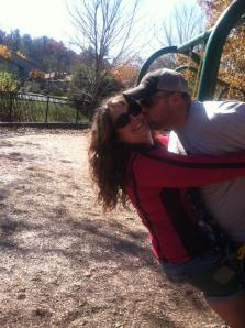 Kissing on swing
